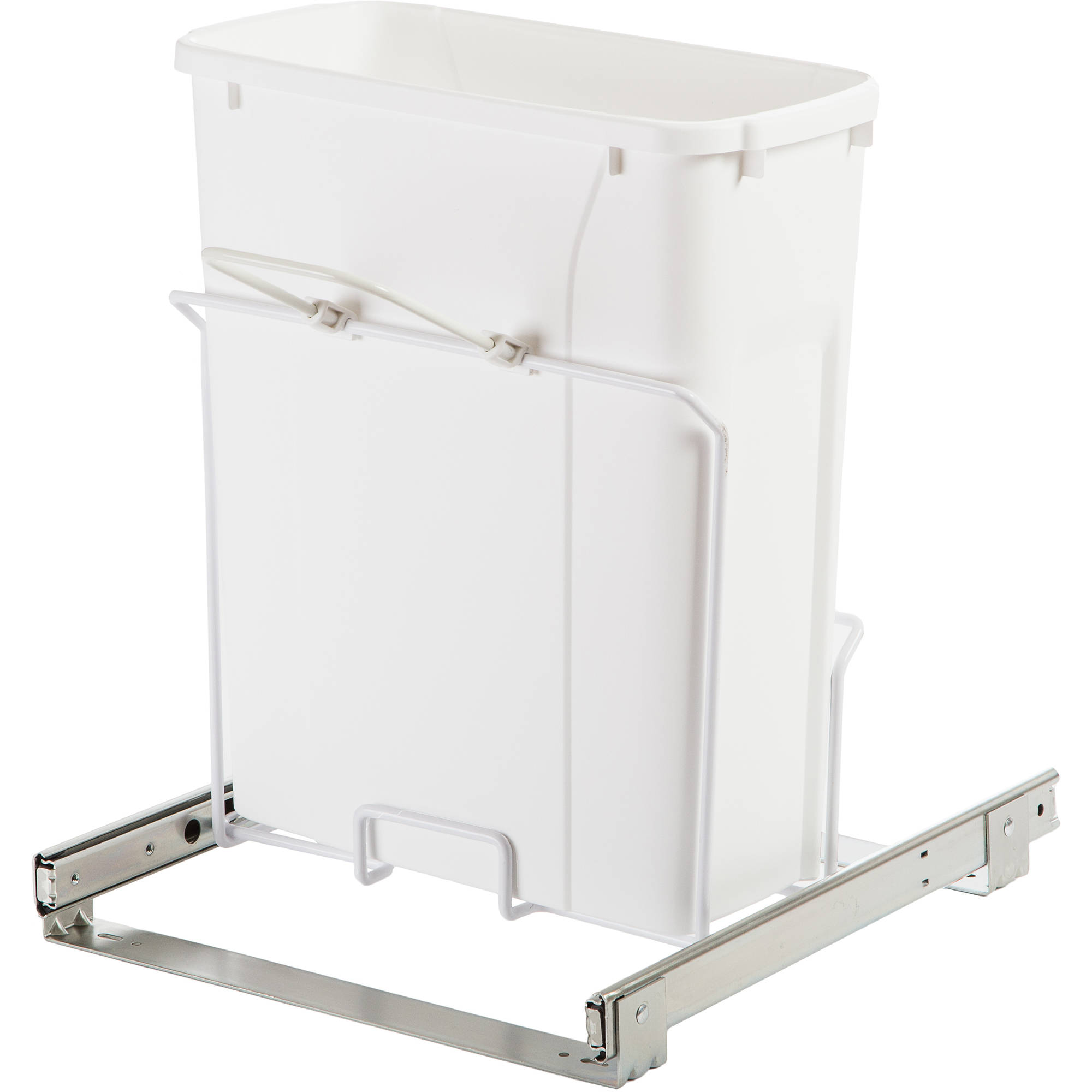 Knape and vogt 20 qt in cabinet pull out bottom mount trash can walmart com