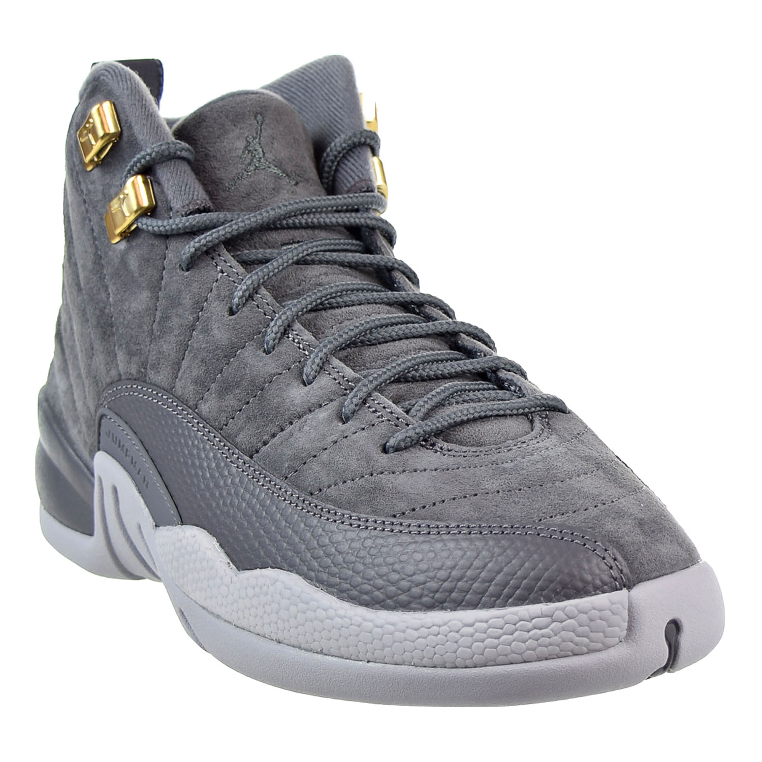 big sale ca83d 643d1 ... aliexpress jordan air jordan 12 retro bg big kids shoes dark grey dark  grey wolf grey