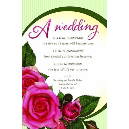 Bulletin-Wedding Is A Time To Celebrate (Pack Of 100)](Wedding Bulletins)