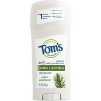 Tom's of Maine Long Lasting Deodorant Maine Woodspice 2.25 oz