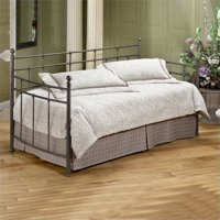 Bowery Hill Twin Metal Daybed with Suspension Deck in Antique Bronze