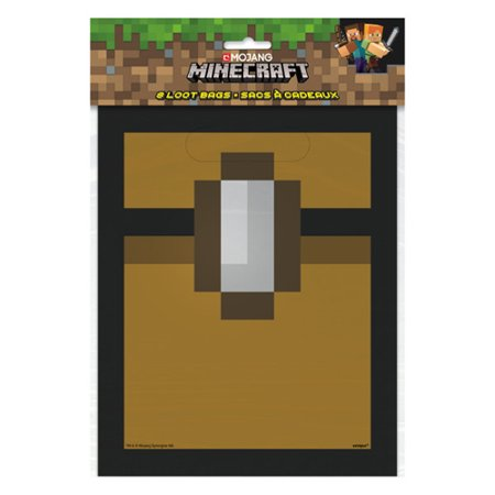 Minecraft Favor Bags (8ct)](Minecraft Birthday Party Supplies)