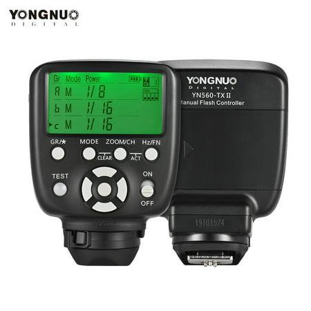 YONGNUO YN560-TX II Manual Flash Trigger Remote Controller LCD Transmitter for Nikon DSLR Camera to YN560III/YN560IV/YN660/YN968N/YN860Li Speedlite RF-602/RF603/RF603 II/RF605