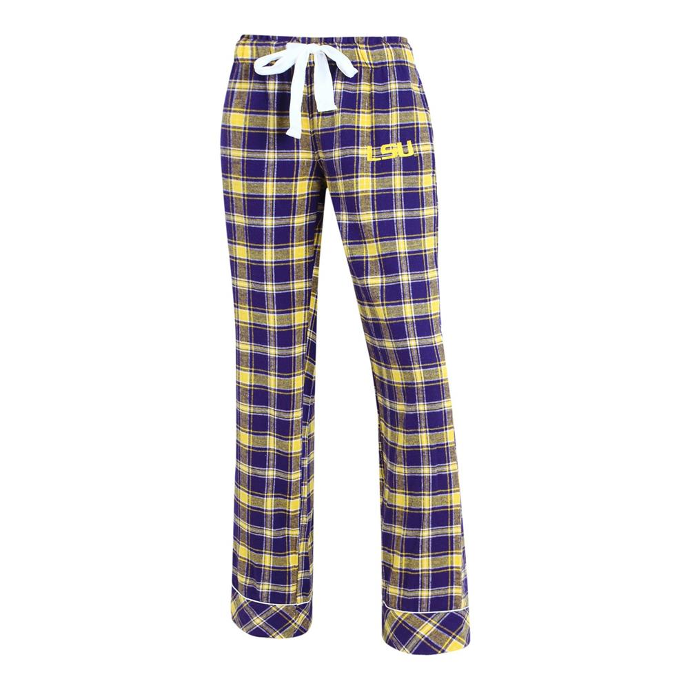 Ladies Capitvate Flannel LSU Tigers Louisiana State Pajama Pants