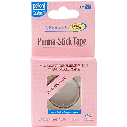 """Double-Sided Perma-Stick Tape, 5/8"""" x 21', Clear"""