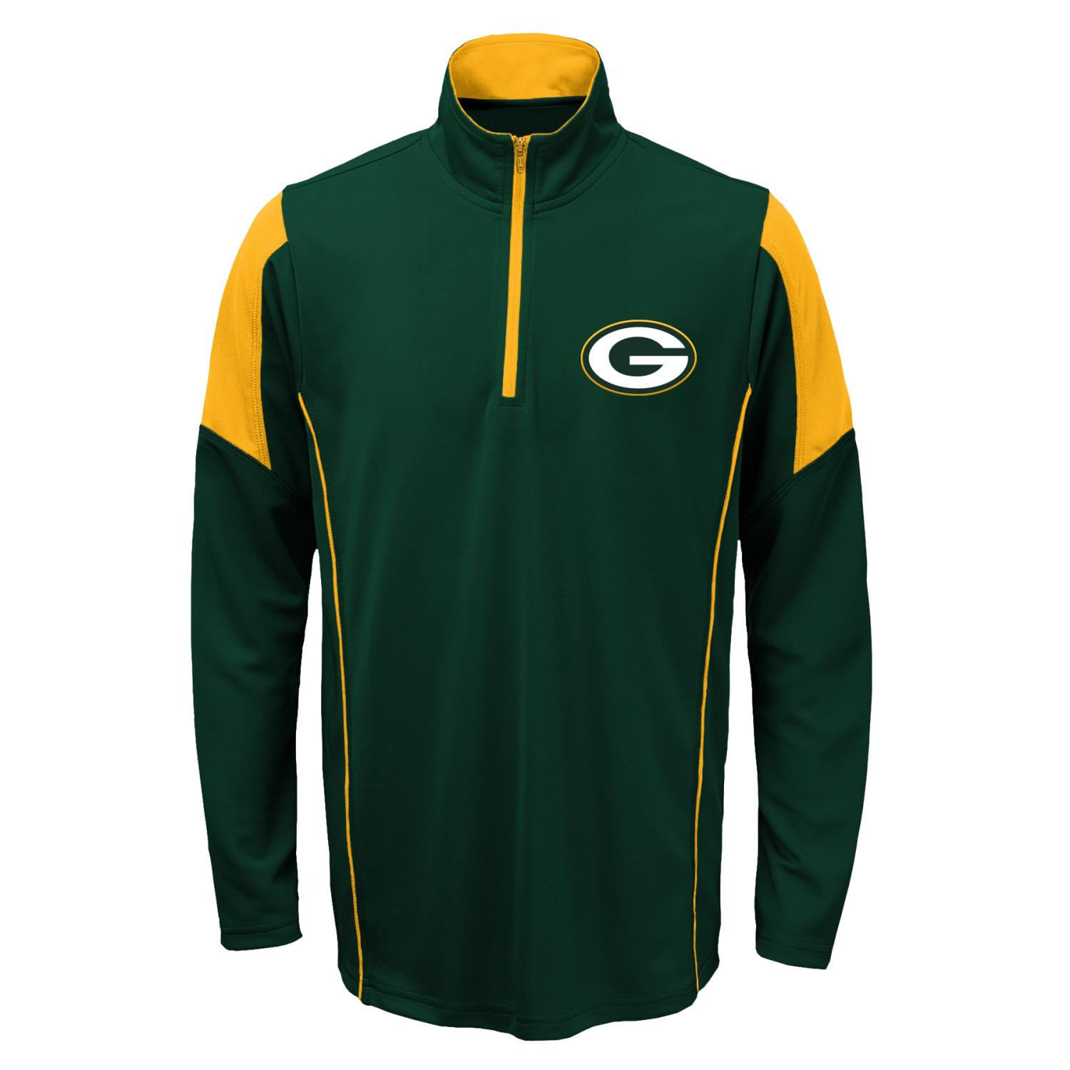Green Bay Packers Youth NFL Lightweight 1/4 Zip Pullover Long Sleeve Shirt