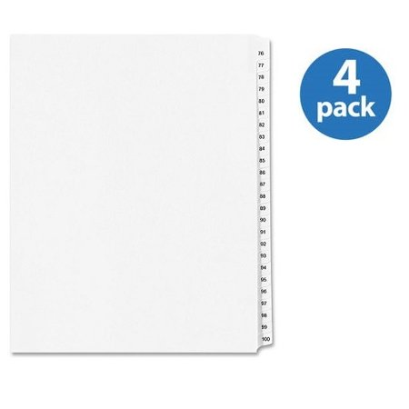(4 Pack) Avery Collated Numerical Side Tab Index Dividers