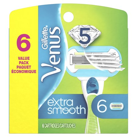 Extra Synthetic Head - Gillette Venus Extra Smooth Women's Razor Blade - 6 Refills