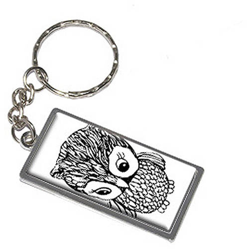 Owl Keychain Key Chain Ring