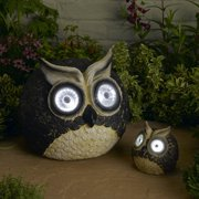 Smart Solar 3563WRM2 Solar Owl Accent 12 Inch by 5 Inch Set of 2