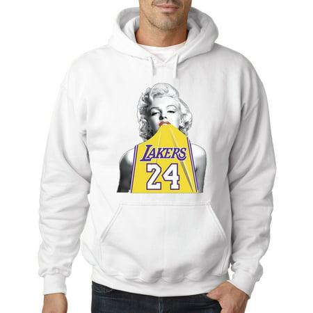 412 - Hoodie Marilyn Monroe Lakers 24 Kobe Bryant Jersey Sweatshirt