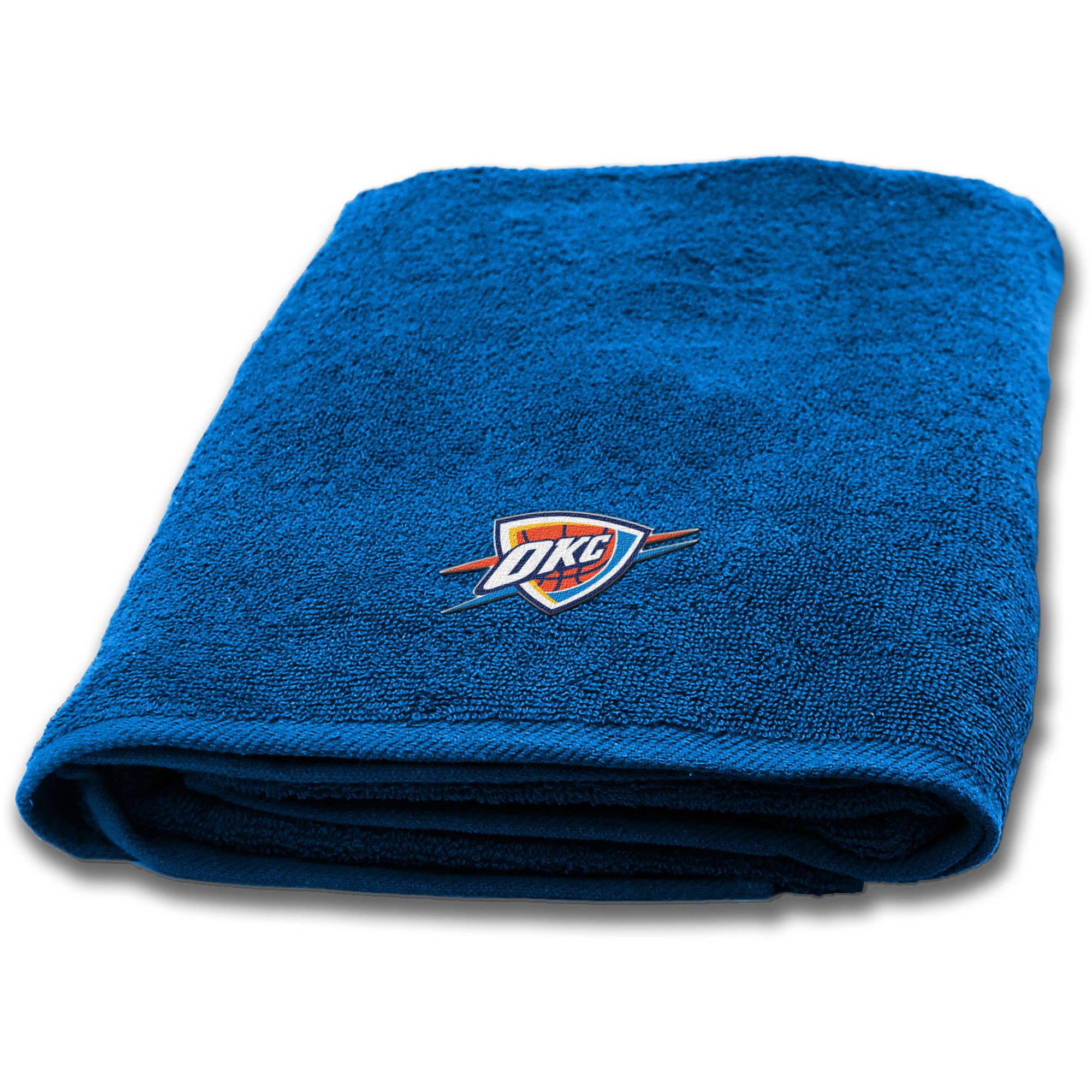 """NBA Oklahoma City Thunder 25"""" x 50"""" Applique Bath Towel, 1 Each"""