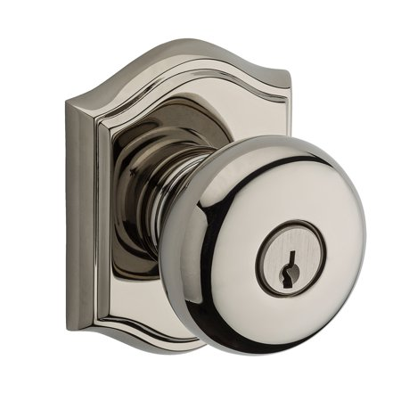 Baldwin Hardware EN.ROU.T Reserve Round Keyed Entry Knob with Traditional Rose Baldwin Entry Locks