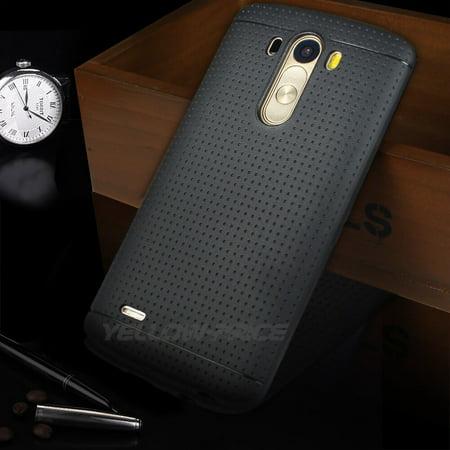 LivEditor Black Silicone Case Rubber Gel Matte Capsule Surface TPU Cover Films for LG G3 - image 5 de 5