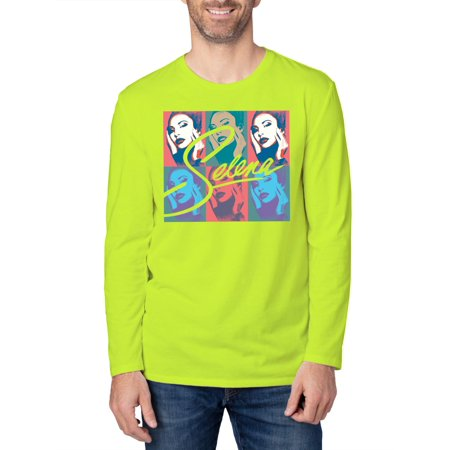 Mens Selena Long Sleeve Neon Graphic T-Shirt, up to 2XL](Neon Shirt)
