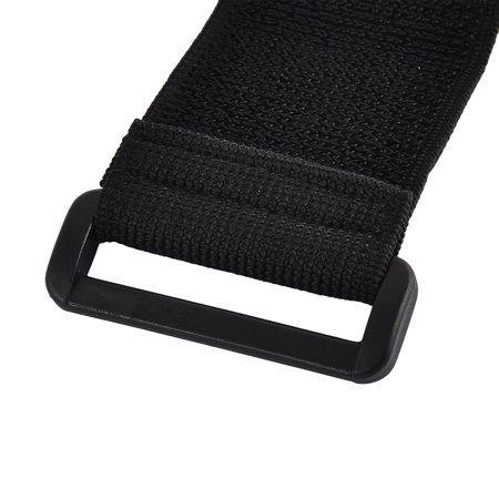 Outdoor Sports Nylon Elastic Backpack Hook Loop Tie Strap Black 5 x 20cm 2pcs - image 2 de 3
