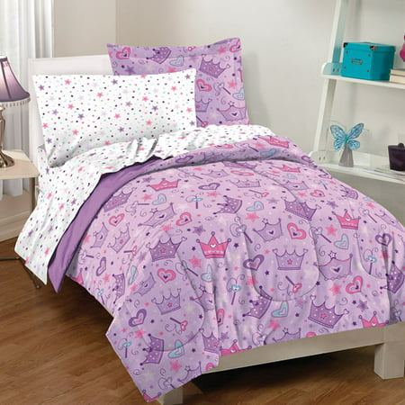Dream Factory Stars and Crown Bed in a Bag Bedding Set All Star Sports Bedding