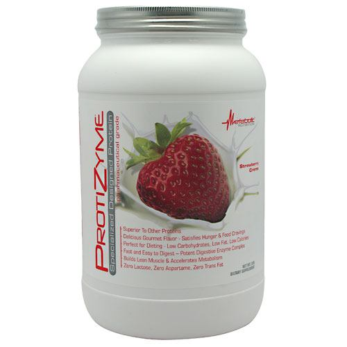 Metabolic Nutrition Protizyme - Strawberry Creme - 2 lb -...