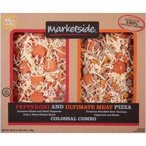 Marketside Colossal Combo Pepperoni & Ultimate Meat Pizzas, 56 oz
