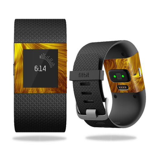 Skin Decal Wrap for Fitbit Surge cover skins sticker watch Golden Locks