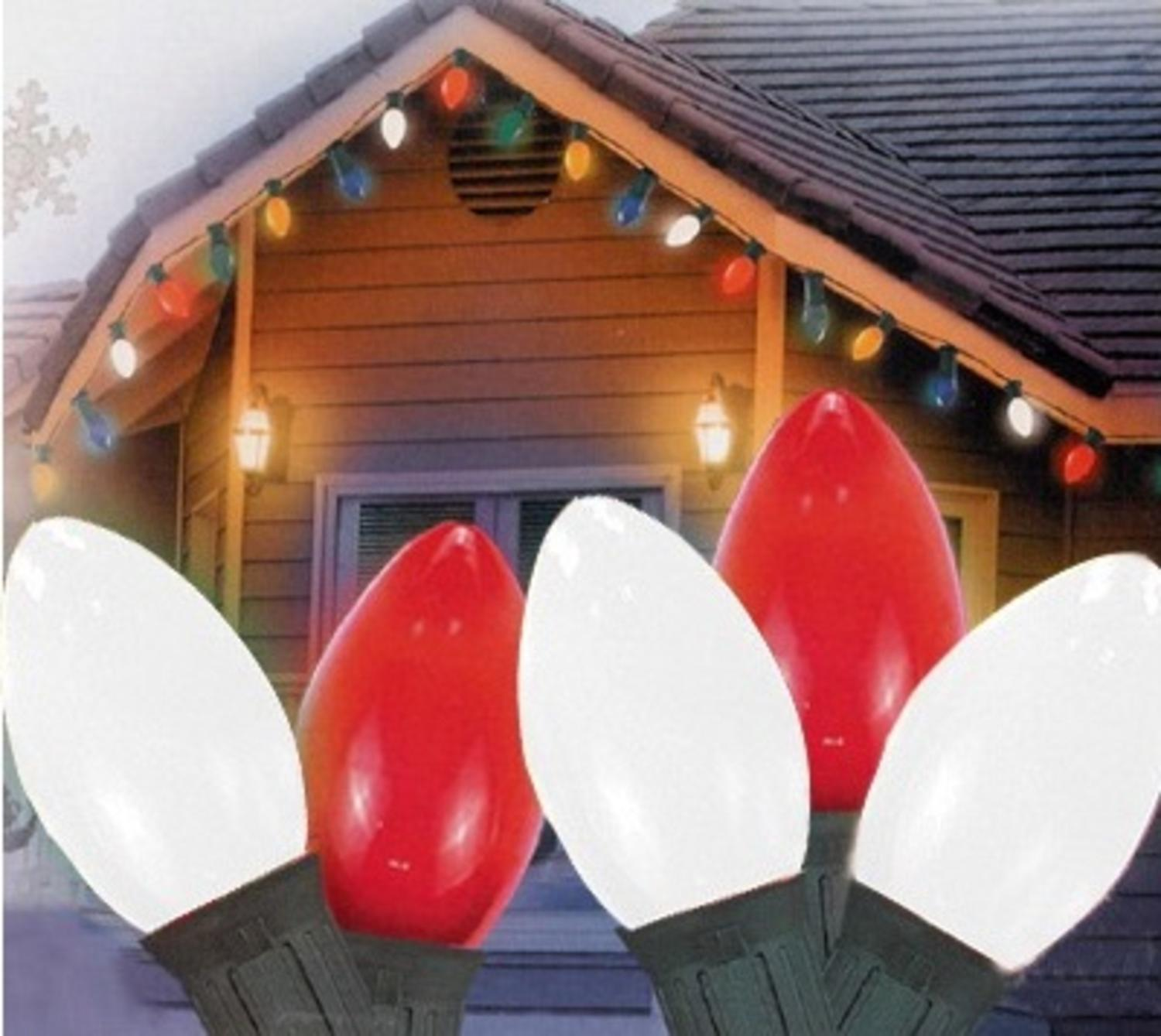 set of 2 peppermint twist giant lighted candy cane pathway markers outdoor christmas decorations 60 walmartcom - Red White And Green Christmas Lights