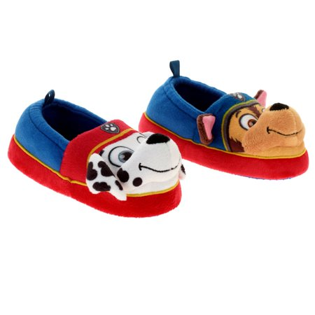 Toddler Boys Red Paw Patrol Slippers Puppy Dog House Shoes Marshall