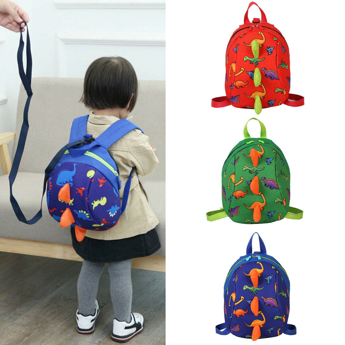 Safety Harness Baby Strap Toddler Walking Backpack Anti Lost Leash Preschool Bag