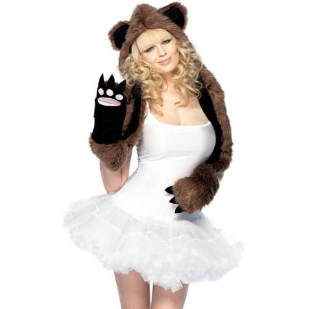 Leg Avenue Bear Hood With Paws Adult Halloween Costume](Bear Halloween Costume)
