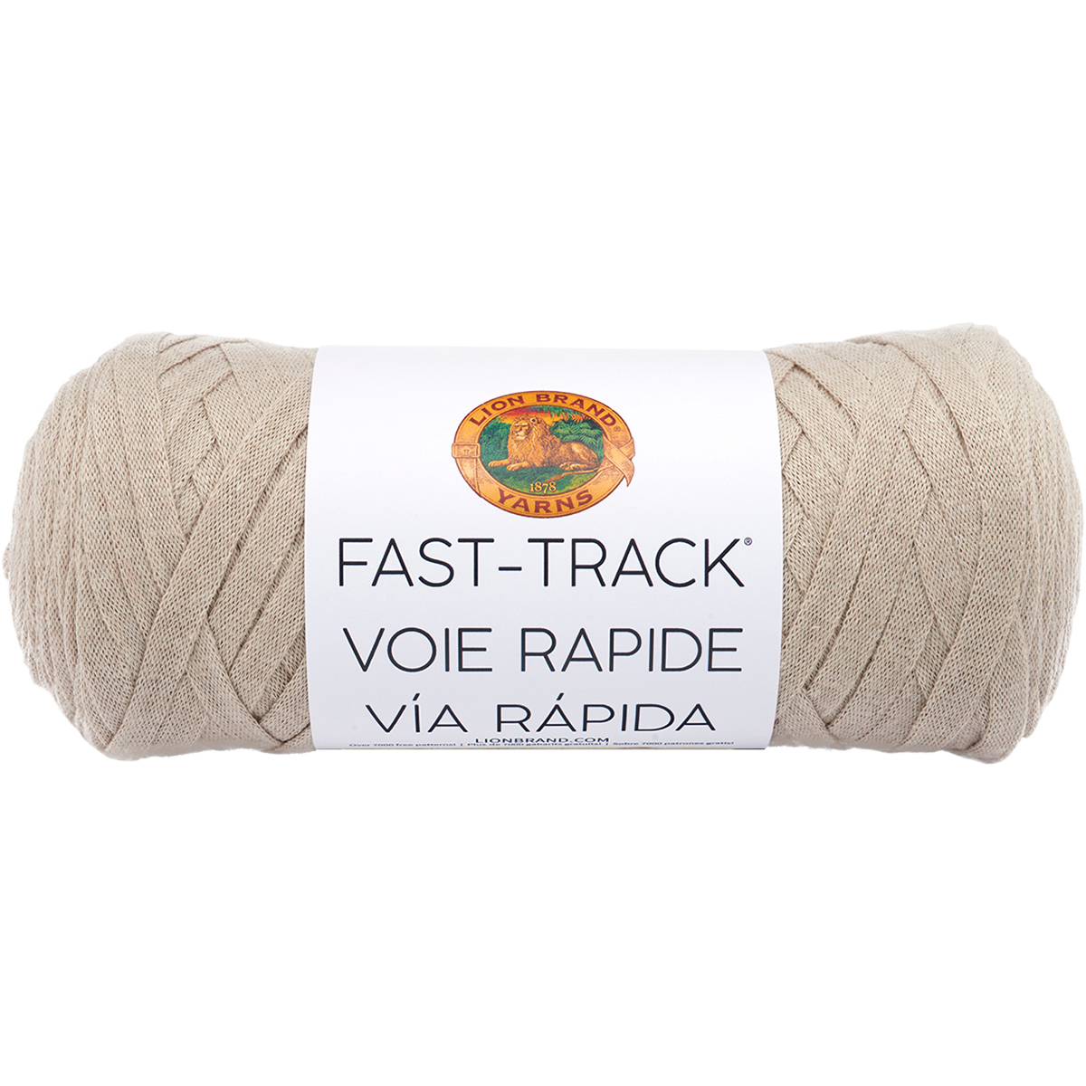 Lion Brand Fast Track Yarn-Truckers Taupe