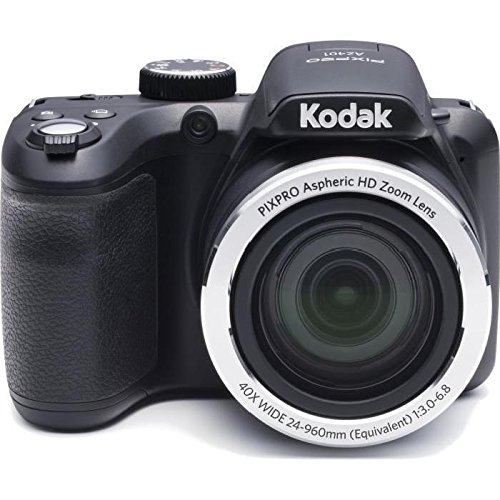"Refurbished Kodak DSC-AZ401-BK-US-1 Point & Shoot 16MP Digital Camera with 3"" LCD Black by Kodak"