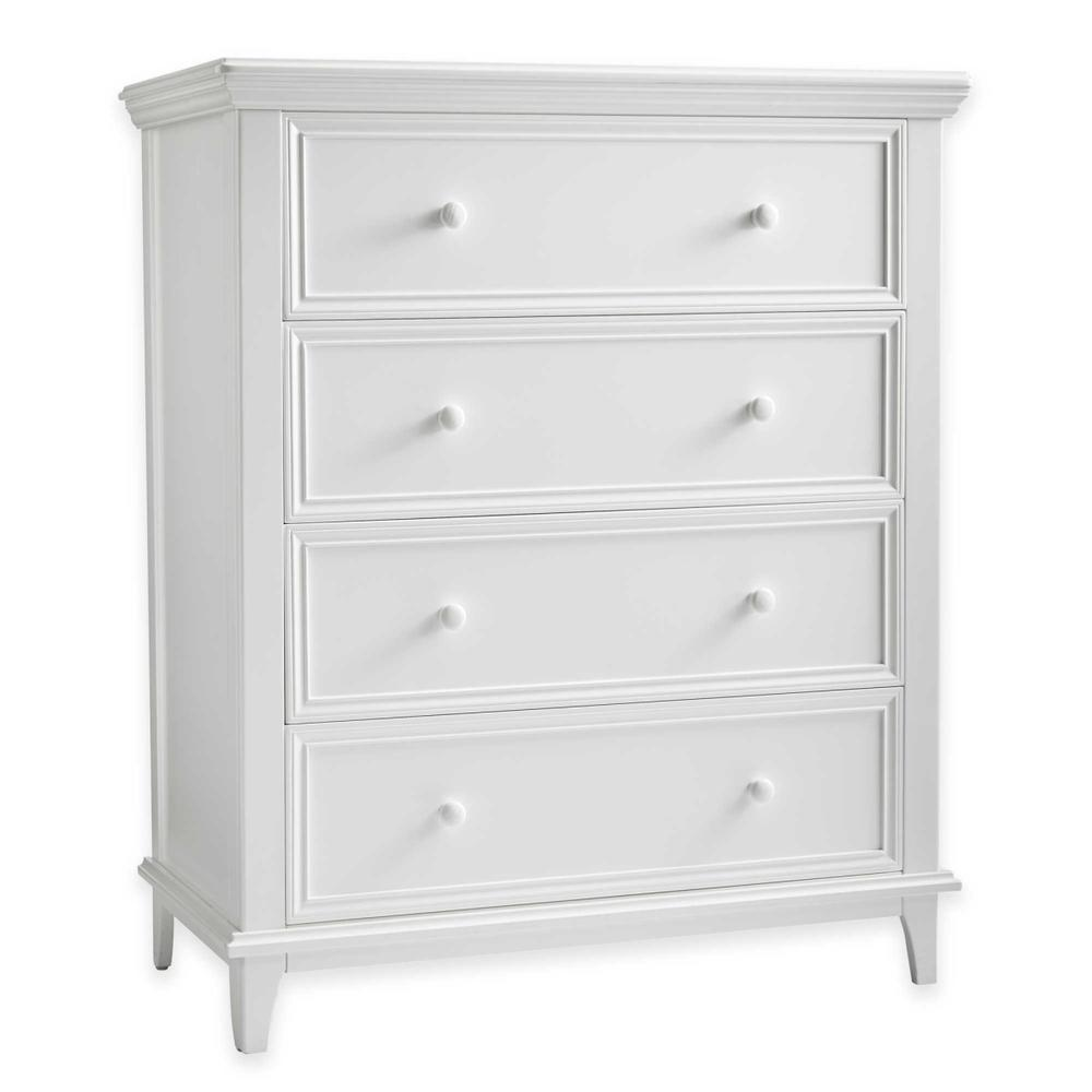 Sealy Batavia 4 Drawer Transitional RTA Dresser White Pattern by Sealy
