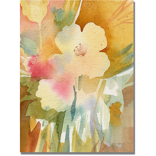 "Trademark Art ""Ochre Garden View"" Canvas Wall Art by Shelia Golden"