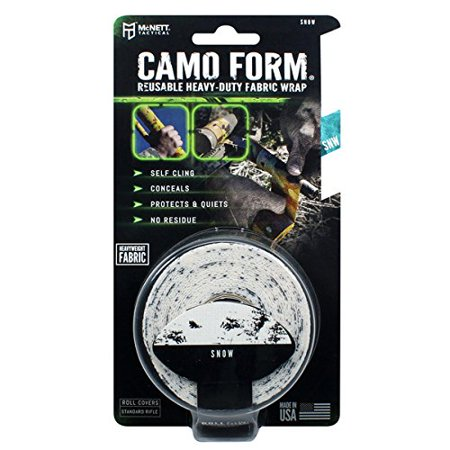 - Camo Form Protective Camouflage Wrap, Snow, Quality field tested to help you in during your outdoor situations By McNett Tactical
