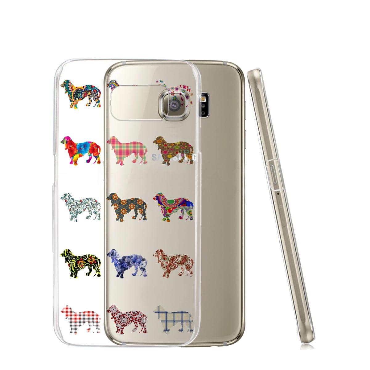 KuzmarK™ Samsung Galaxy S6 Edge Clear Cover Case - Daschund Dog