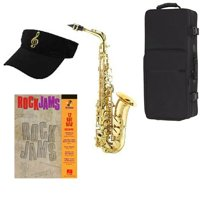 Rock Jams Saxophone Pack - Includes Alto Sax w/Case & Accessories, Rock Jams Play Along Book