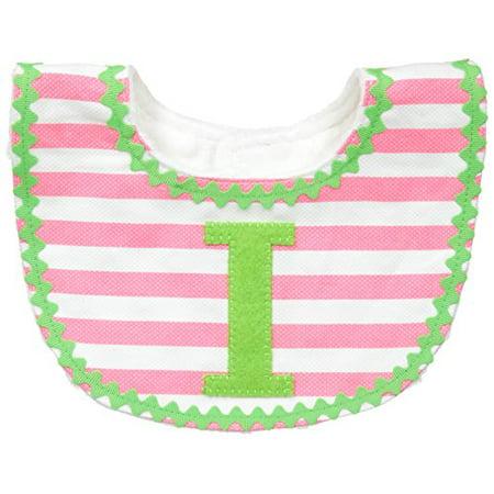 Mud Pie Baby-Girls Newborn I Girl Initial Bib, Pink, One Size](Mudpie Halloween)