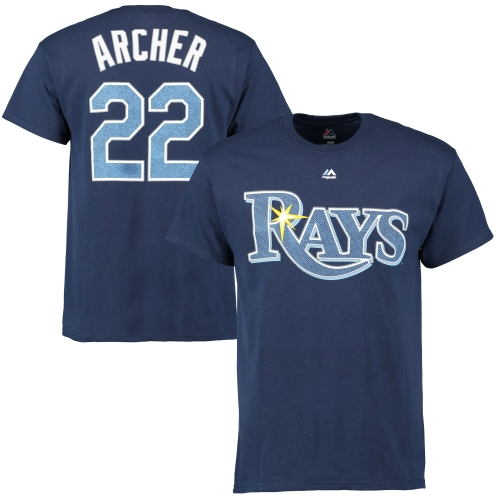 Chris Archer Tampa Bay Rays Majestic Official Name and Number T-Shirt - Navy