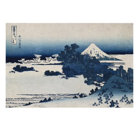 Shichirigahama in Suruga Province'- from the Series 'The Thirty Six Views of Mount Fuji' Print Wall Art By Katsushika (Thirty Six Views Of Mount Fuji Prints)