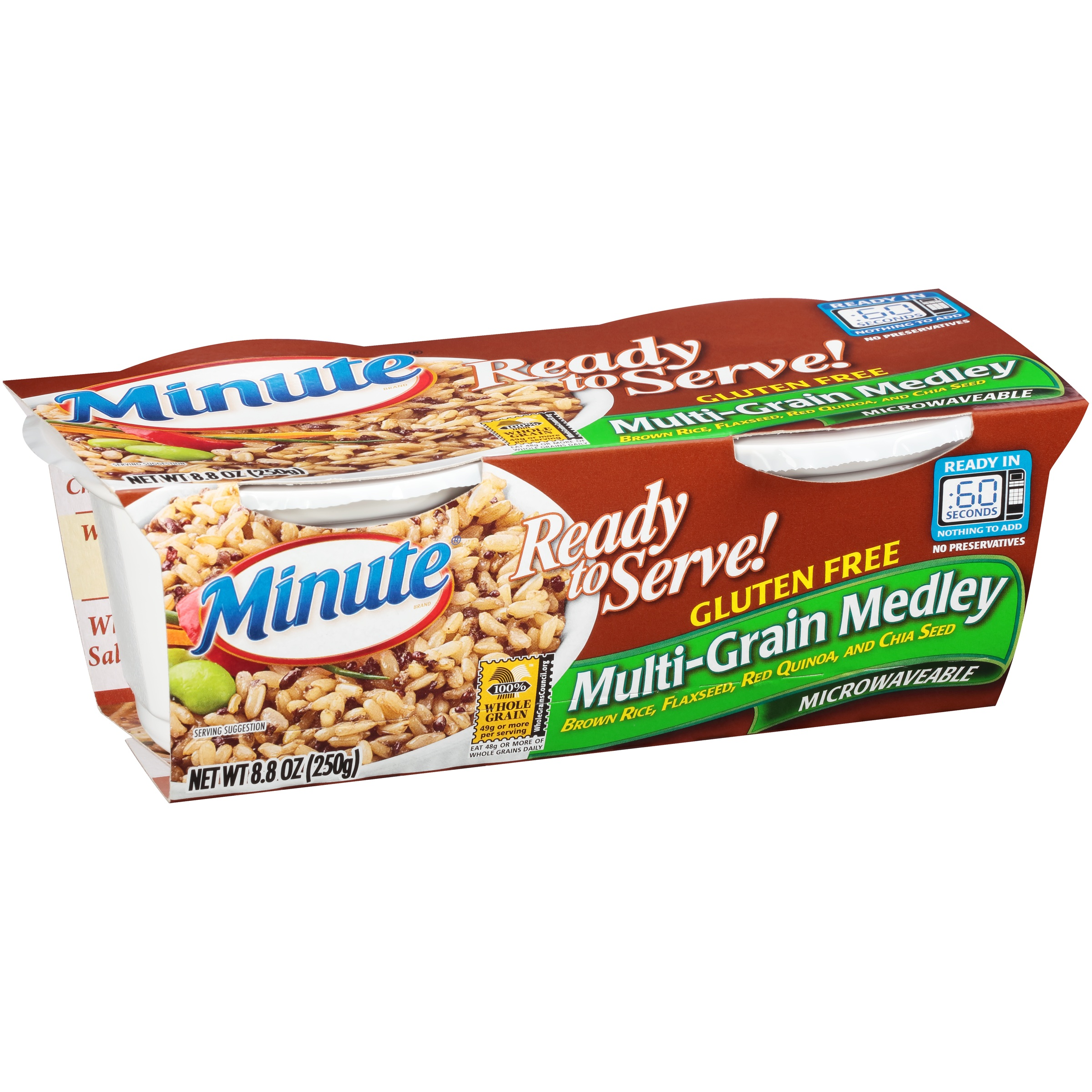Minute Ready To Serve! Multi-Grain Medley Rice 2 Count Cups