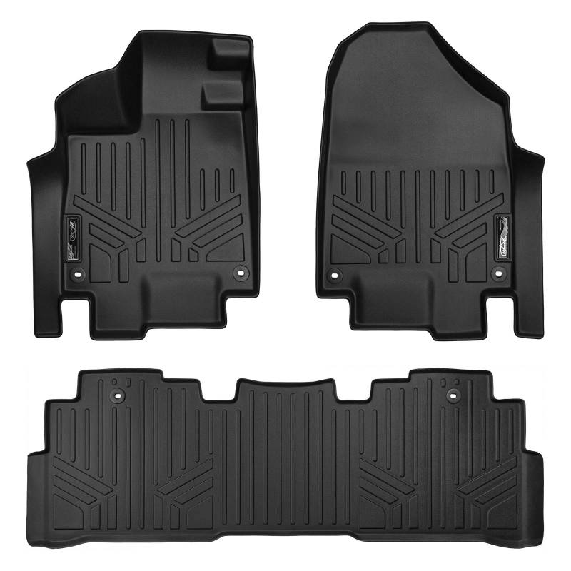 Maxliner 2018 2019 Honda Odyssey Floor Mats 2 Row Set Black A0325/B0325