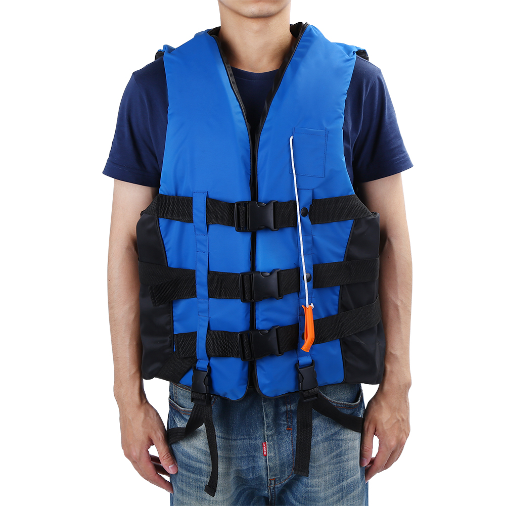 Life Vest Jacket for Kids and Adult, Polyster Buoyancy Aid Vest+Whistle Swimming Boating Kayaking by