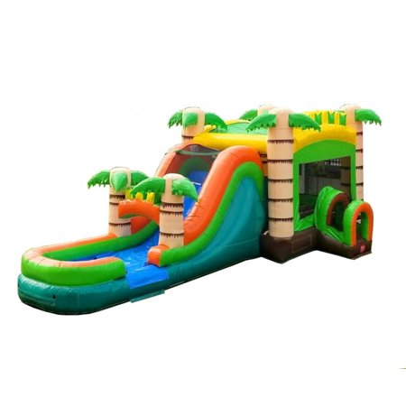 3640f93c5af7 Pogo Mega Tropical Commercial Inflatable Bounce House Slide with ...