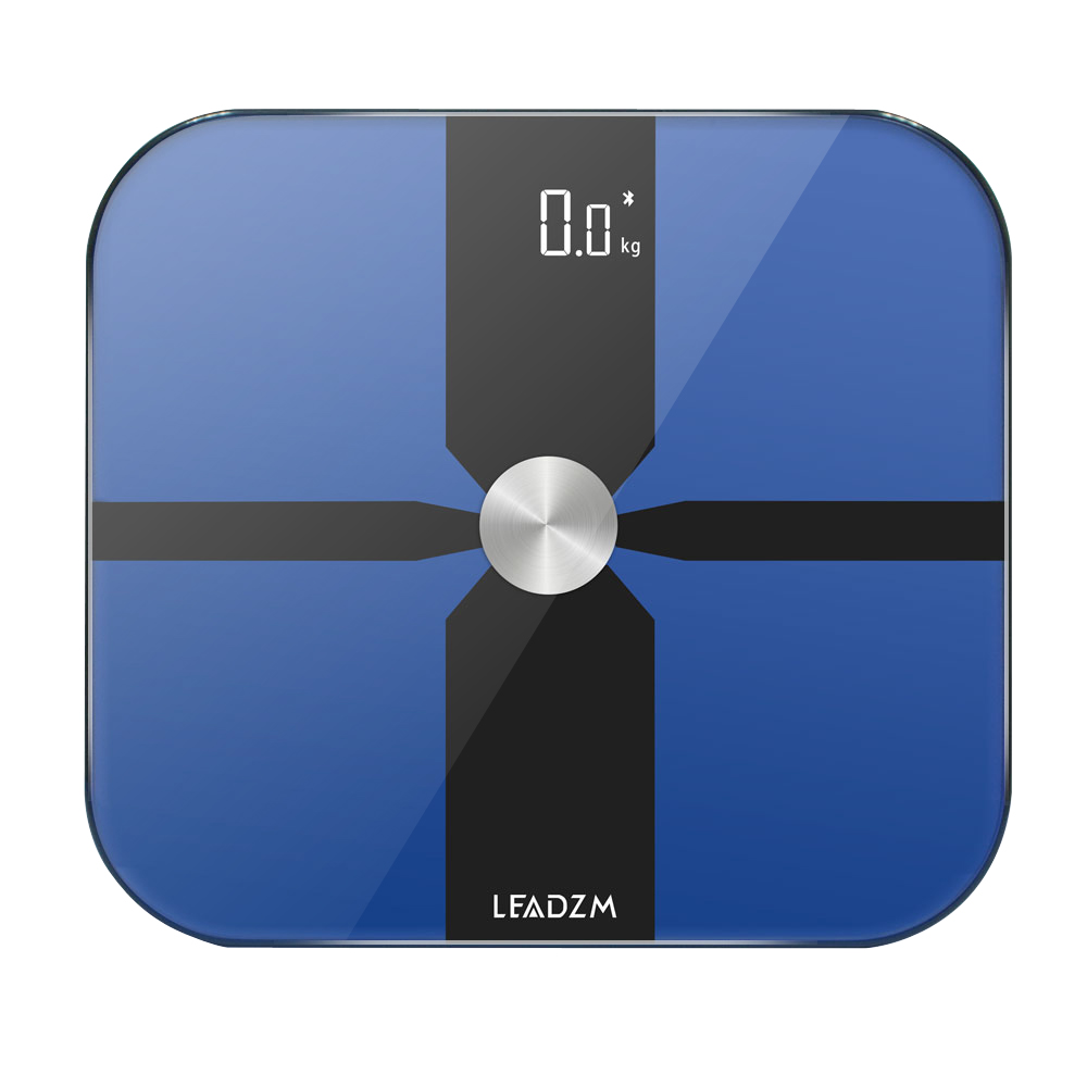 180kg/100g ITO Film Electrode Plate Bluetooth Scale Fat Scale Blue