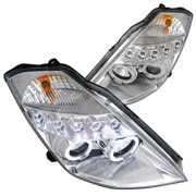Spec-D Tuning For 2003-2005 Nissan 350Z Z33 Jdm Halo Chrome Projector Headlight Lamp Pair 2003 2004 2005 (Left+Right)