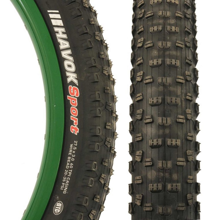Kenda, Havoc Sport, 27.5x2.80, Wire, DTC, Clincher, 60TPI, 25PSI, Black