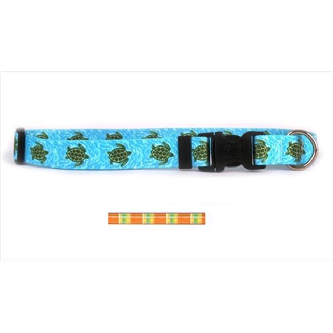 Yellow Dog Design MDO102M Madras Orange Standard Collar - Medium