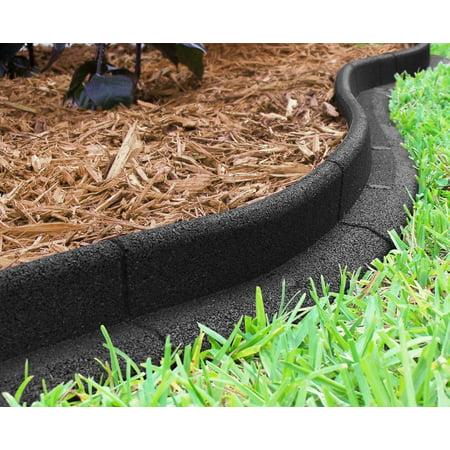 Ecoborder Landscape Edging Black 6pk Walmart Com