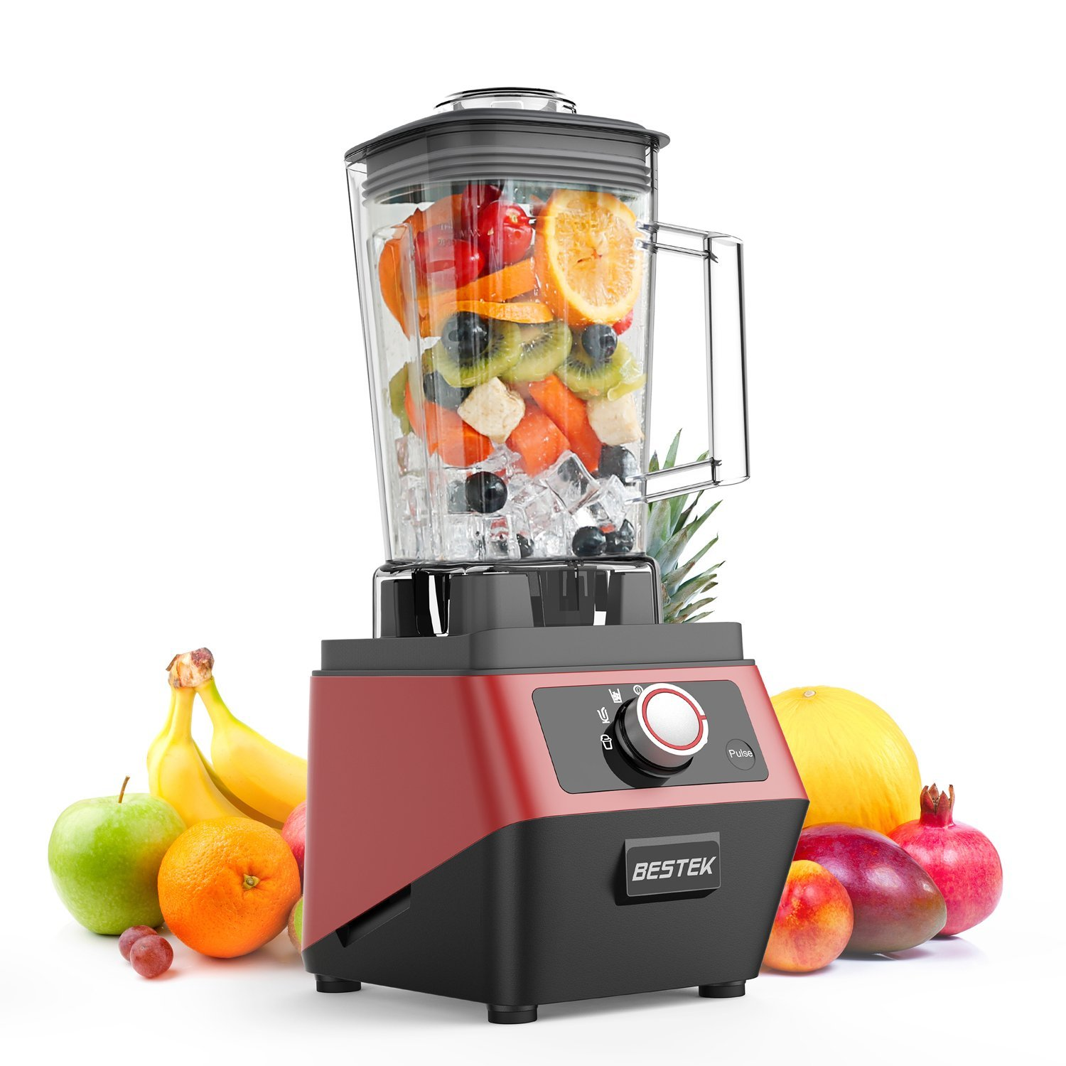BESTEK Commercial Blender,1400W 30000RPM High Speed Smoothie Blender with 2L BPA-Free Tritan Pitcher, Food Processor