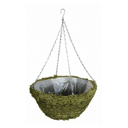 14 in. Green Moss Hanging - Sphagnum Moss Basket Liners