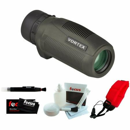 Vortex Optics S105 Solo 10x25 Monocular + Focus Foam Float Strap Red + Accessory (Sol Optics)